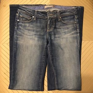 """NWOT Paige Denim """"Laurel Canyon"""" Blue Jeans Sz 27"""